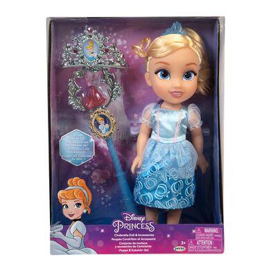 Disney Princess Cinderella Value Doll With Tiara & Wand