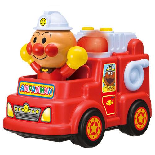 Anpanman麵包超人發聲玩具車-消防車