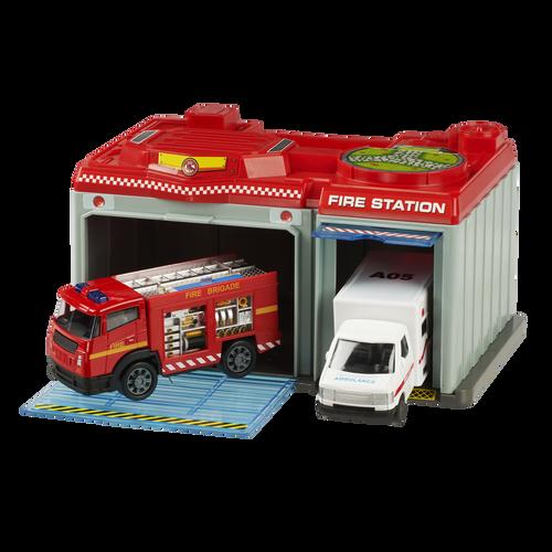 Speed City極速都市  緊急救援站,配有消防車及救護車