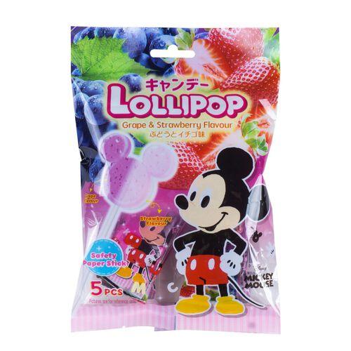 Disney迪士尼 米奇提子士多啤梨味棒棒糖