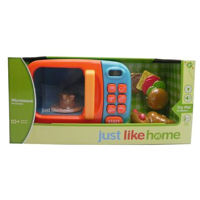 Just Like Home玩具微波爐 - 藍色