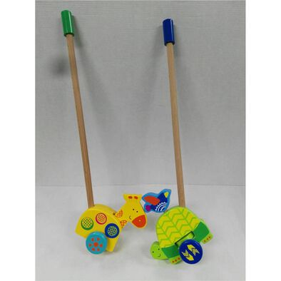 Universe Of Imagination Wooden Push Toy With Rack - Assorted