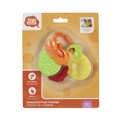 Top Tots Colourful Fruit Teether - Assorted