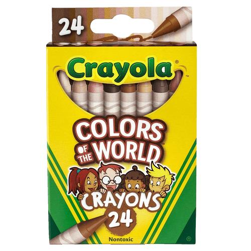 Crayola繪兒樂 世界色彩蠟筆24色