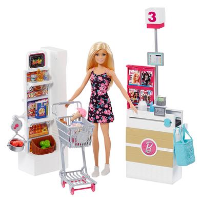 Barbie Supermarket With Doll (Blonde)