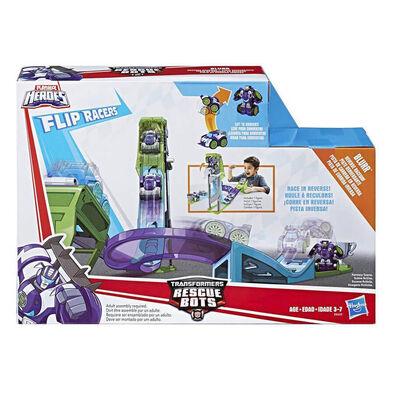 兒樂寶英雄transformers變形金剛 Rescue Bots Flip Racers Blurr Reverse Raceway
