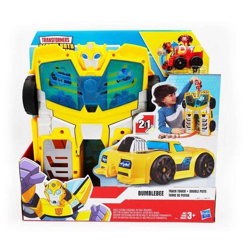 兒樂寶英雄transformers變形金剛救援機械人學院大黃蜂追蹤塔 2 合 1 玩具套裝