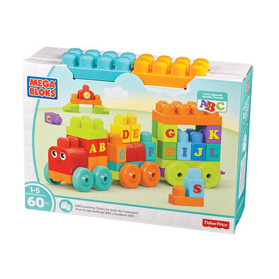 Mega Bloks 美高大積木字母學習火車