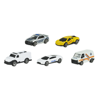 Speed City極速都市  5件裝城市模型車