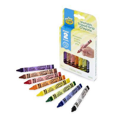 Crayola繪兒樂可水洗三角形蠟筆8支裝