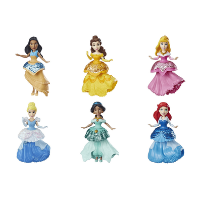 Disney Princess迪士尼公主small Doll With Royal Clips Fashion - 隨機發貨