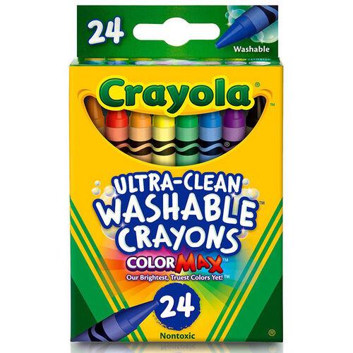 Crayola繪兒樂可水洗蠟筆24支裝