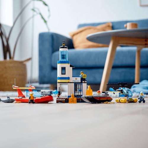 LEGO樂高城市系列 海邊警察和消防任務 60308