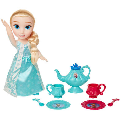 Disney Frozen迪士尼魔雪奇緣 愛莎玩偶及茶具套裝