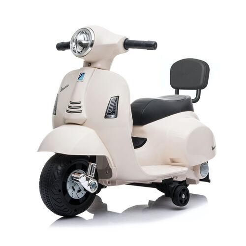 Mini Vespa偉士 兒童電動迷你綿羊仔電單車-奶白