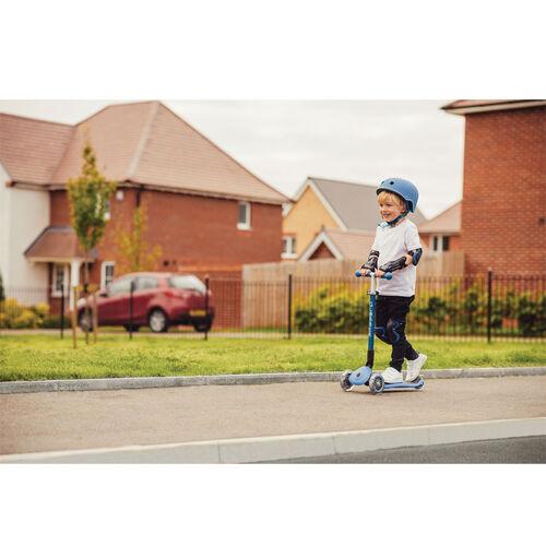 Globber高樂寶 折疊滑板車-天藍色