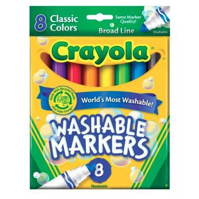 Crayola繪兒樂經典可水洗粗頭標記筆8支裝