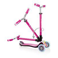 Globber高樂寶 兒童三輪滑板車-閃光升級款粉紅色