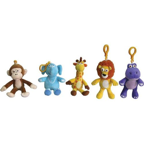 Animal Alley Geoffrey And Friends Key Chain Soft Toy - Assorted