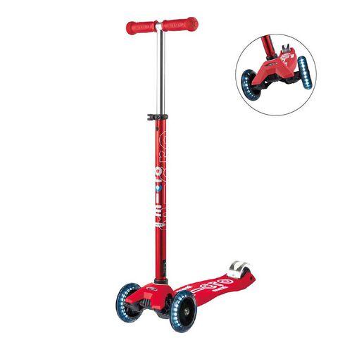 Micro Mobility Maxi Micro 豪華版閃轆中童紅色滑板車