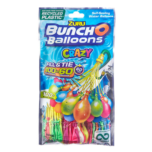 Zuru Bunch O Balloons - FOIL BAG 快速填充式水彈 (100 個裝)