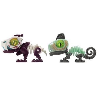 SilverLit銀輝 魔動獸球兩件套裝 (金屬色/夜光) 劍齒虎及變色龍