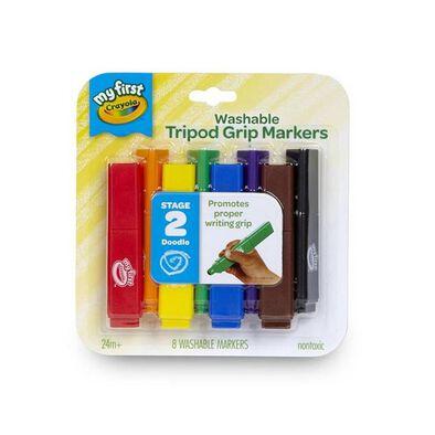 Crayola繪兒樂可水洗三角形標記筆8支裝