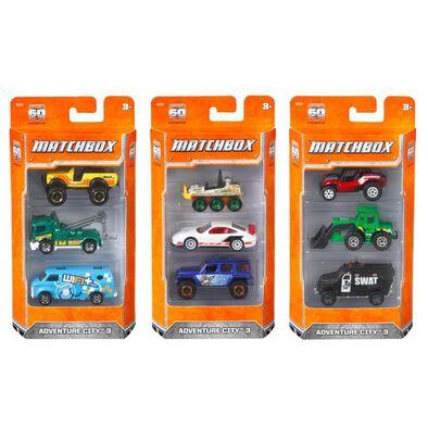 Matchbox火柴盒小汽車基本3件裝 - 隨機發貨