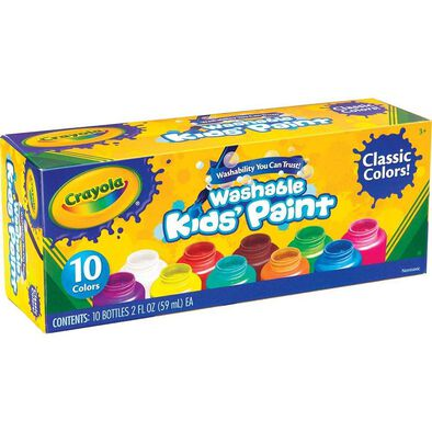 Crayola繪兒樂 10色2安士可水洗兒童顏料