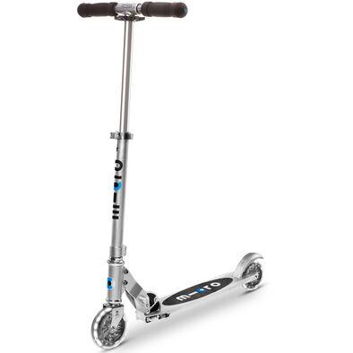 Micro Mobility【升級閃轆版】 Micro 中童 易摺滑板車 銀色啞光