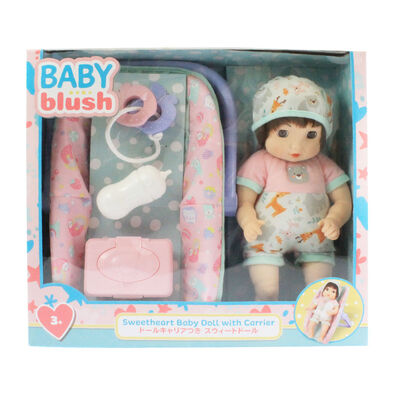 Baby Blush 親親寶貝  可愛嬰兒玩偶,配有提籃