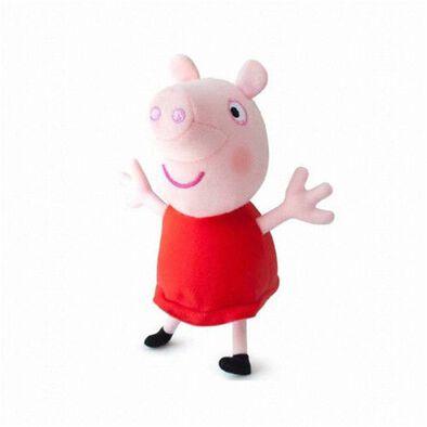 Peppa Pig粉紅豬小妹 紅色裙毛公仔 (無聲)