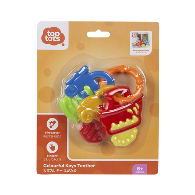 Top Tots Colourful Keys Teether - Assorted