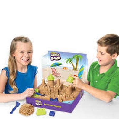 Kinetic Sand 動力沙 沙堡套裝 附3磅啡色沙+配件