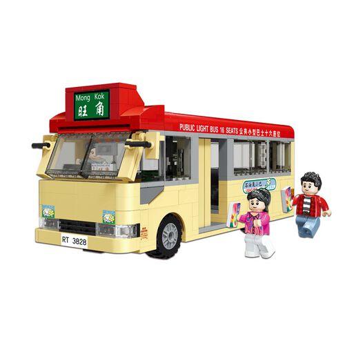 City Story 小城故事 拼裝積木:香港紅色小巴