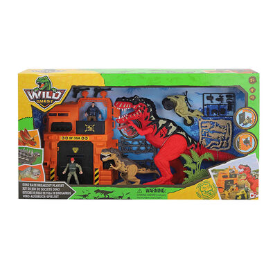 Wild Quest Wq Dino Base Breakout Playset