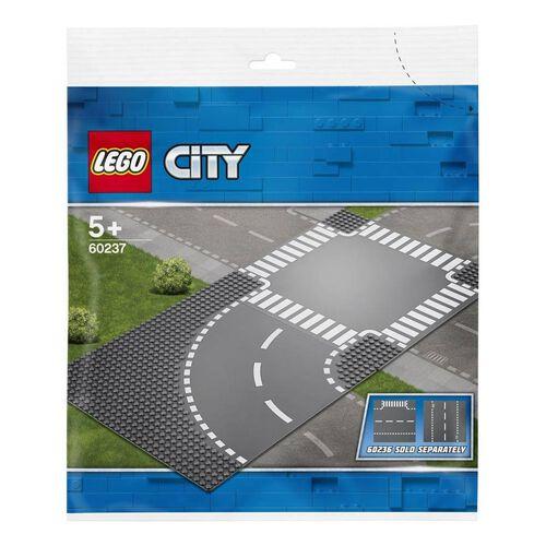 LEGO樂高城市系列彎曲和十字路口 60237