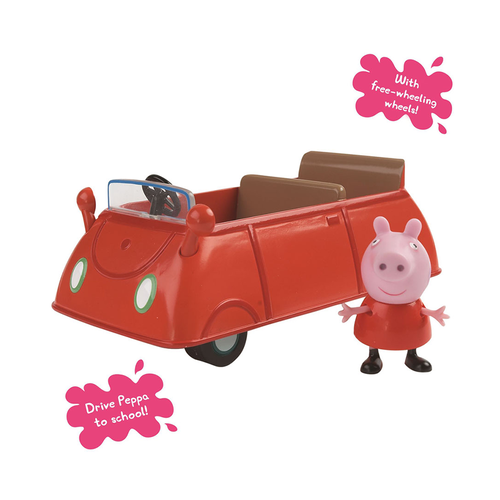 Peppa Pig粉紅豬小妹 紅色家庭房車