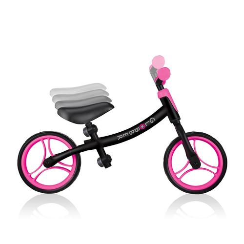 Globber高樂寶 Go Bike 幼兒平衡車 (黑色/粉紅色)