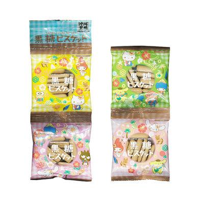 Sanrio三麗鷗 黑糖味餅乾四連包