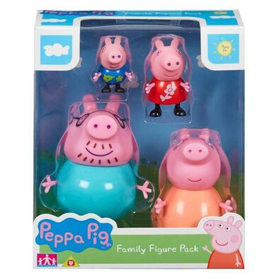 Peppa Pig粉紅豬小妹「幸福一家」造型公仔4件裝