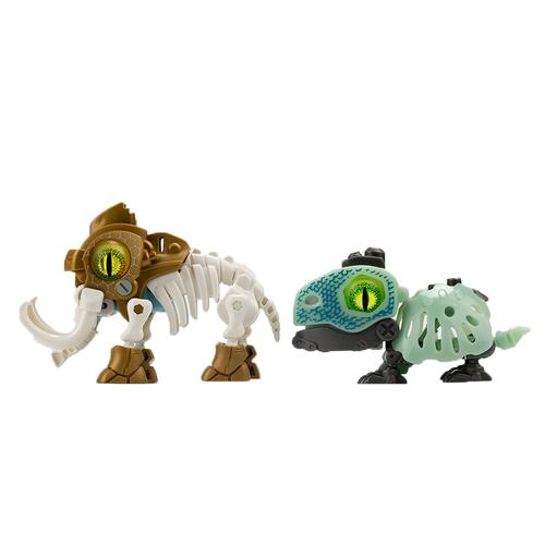 SilverLit銀輝 魔動獸球兩件套裝 (金屬色/夜光) 猛獁象及陸龜