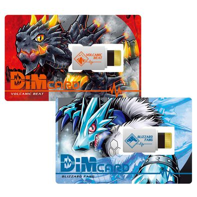 Bandai Digimon Dimcard Set Volcanic Beat & Blizzard Fang