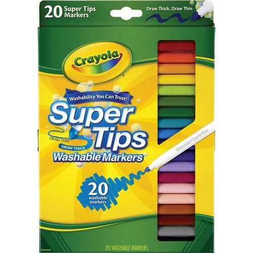 Crayola繪兒樂 繪兒樂crayola繪兒樂 20色細頭兒童可水洗水彩筆