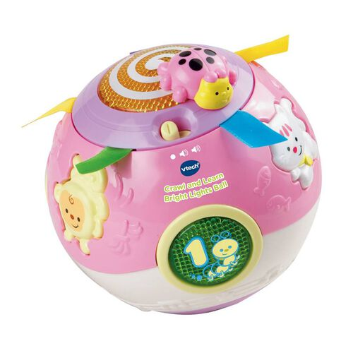 Vtech Crawl And Learn Bright Lights Ball Pink Colour