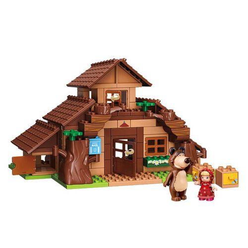 Qman Keeppley  瑪莎與熊 熊熊之家情境積木套裝