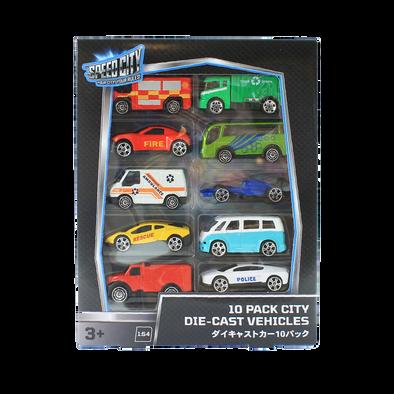 Speed City極速都市  10件裝城市模型車