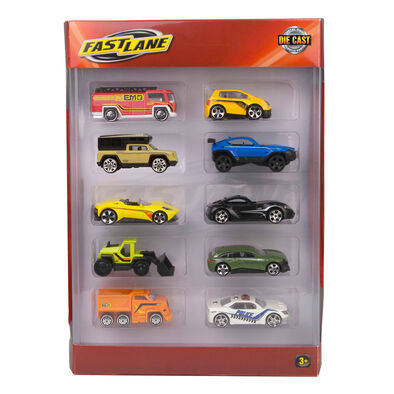 Fast Lane極速快線 Fast Lane極速快線 10 Pack Die Cast Vehicles 隨機發貨