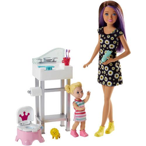 Barbie芭比與朋友褓姆照護遊戲組 - 隨機發貨
