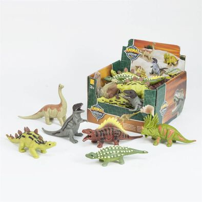 Animal Zone動物叢林 24隻入膠粒軟料迷你恐龍掛牌仔入彩盒裝(共六款) 隨機發貨
